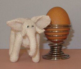 World's Tiniest White Elephant Amigurumi Toy