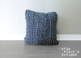 Chunky Cable Twist Crochet Pillow Cover (pillow005)
