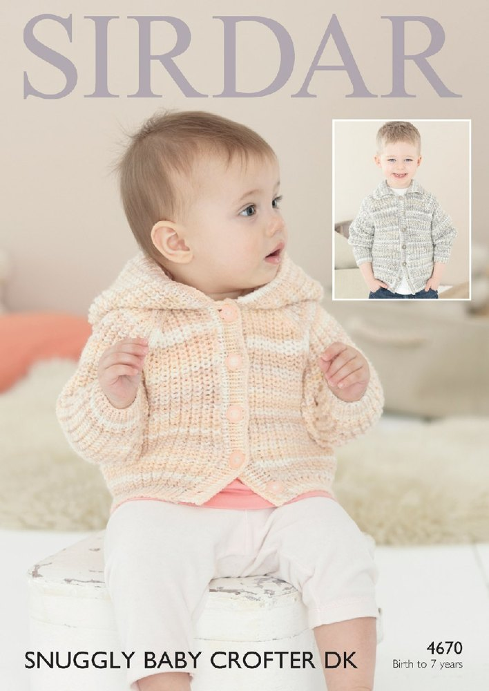 Jackets in Sirdar Snuggly Baby Crofter DK - 4670- Downloadable PDF