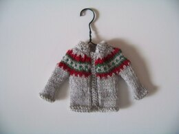 Christmas Tree Ornament Tiny Cardigan