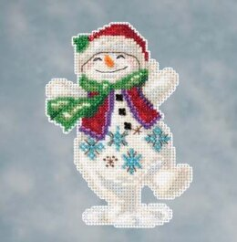 Mill Hill Snowman Dancing Cross Stitch Kit