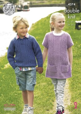 Sweater & Tunic in King Cole DK - 4374 - Downloadable PDF