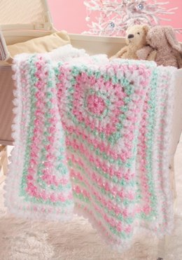 Baby's First Blanket  in Red Heart Baby Clouds - CTNov06-96