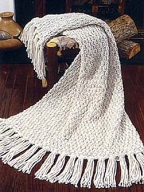 Free Knitting Pattern 80115ad Winter Lace Afghan Lion : Moss Stitch Afghan in Lion Brand Wool-Ease Thick & Quick ...