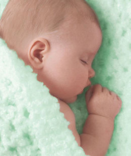 Angel Baby Blanket in Red Heart Baby Clouds Solids - LW1417C - Downloadable PDF