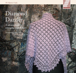 Diamond Dazzler in UK Alpaca Super Fine 4 Ply - Downloadable PDF