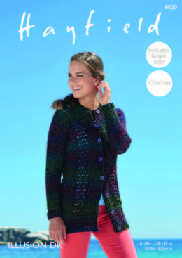 Cardigan in Hayfield Illusion - 8020 - Downloadable PDF
