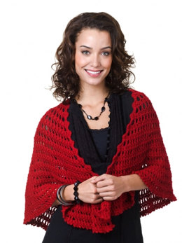 Nadia Shawl in Caron Simply Soft Light - Downloadable PDF