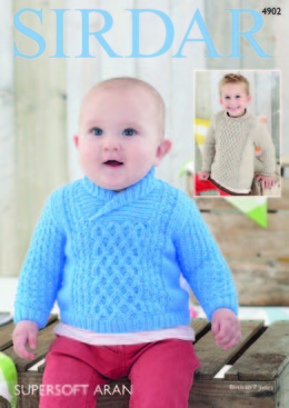 Sweaters in Sirdar Supersoft Aran - 4902 - Downloadable PDF