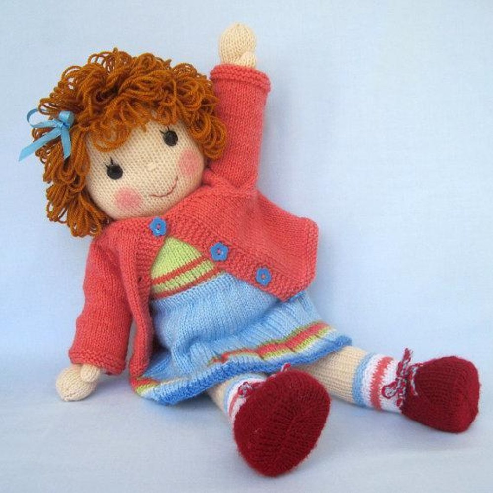 Belinda Jane - Knitted Doll Knitting pattern by Dollytime | Knitting ...