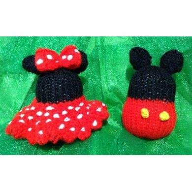 Mickey And Minnie Mouse Christmas Baubles Knitting Pattern By Andrew