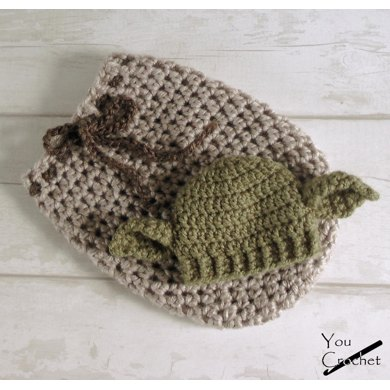 Star Wars Yoda Swaddle Sack And Hat Crochet Pattern By You Crochet