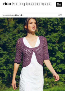 Lace Bolero in Rico Essentials Cotton DK - 076