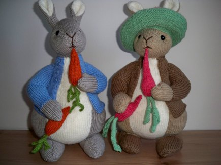 Peter Rabbit And Benjamin Bunny Knitting Project By Christine R