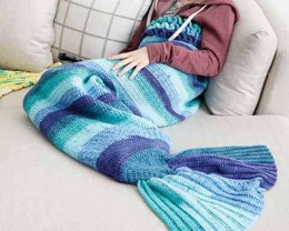 Crochet Mermaid Tail Snuggle Sack in Bernat Pop - Downloadable PDF