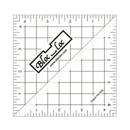 Bloc Loc Half Triangle Ruler 4.5""