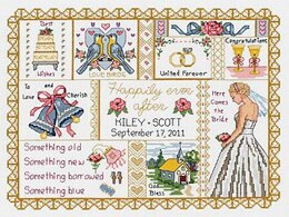 Janlynn Corporation Wedding Collage Sampler Cross Stitch Kit