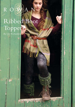 Ribbed Boot Toppers in Rowan Tumble