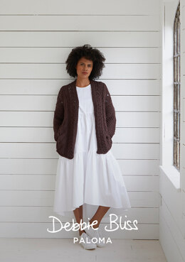 Salthouse Cardigan in Debbie Bliss Paloma - DB265 - Downloadable PDF