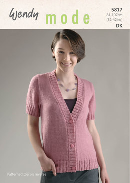 Short Sleeve Cardigan and Sweater in Wendy Mode DK - 5817