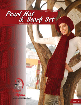Pearl Hat & Scarf Set in Misti Alpaca Chunky - 1012 - Downloadable PDF