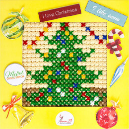 Luca-S My First Cross Stitch Kit - Christmas Tree - BX14