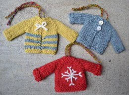 Tiny Top-Down Pullover Sweater and Cardigan