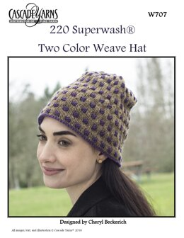 Two Color Woven Hat in Cascade 220 Superwash - W707 - Downloadable PDF