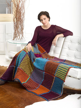Fall Colors Afghan in Lion Brand Vanna's Choice - L32075B