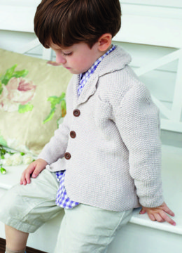 """Moss Stitch Blazer"" - Blazer Knitting Pattern in Debbie Bliss Eco Baby-1"