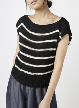 Stripey Coco Mariniere Top in Wool and the Gang Shiny Happy Cotton - Leaflet