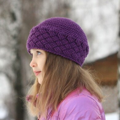 Lilac mood cable hat