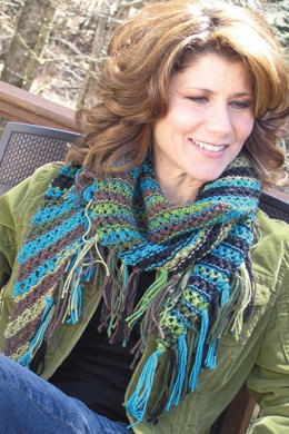 Filet Scarves in Knit One Crochet Too Ty-Dy Wool - 1938 - Downloadable PDF