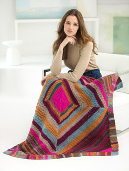 Converging Colors Afghan in Lion Brand Landscapes - L50156 - Downloadable PDF