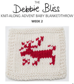 Knit-Along Advent Baby Blanket Week 2 in Debbie Bliss Mia