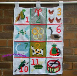 The Twelve Days of Christmas Wall Hanging