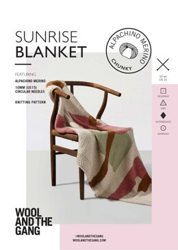 Sunrise Blanket in Wool and the Gang Alpachino - V375841362 - Leaflet
