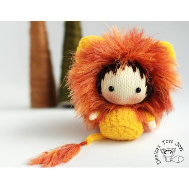 Shaggy Lion Doll. Toy from the Tanoshi series.