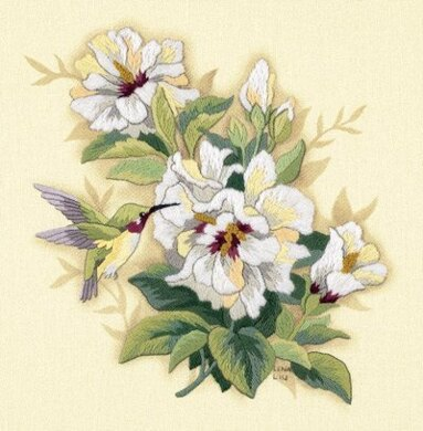 Dimensions Hibiscus Floral Crewel Embroidery Kit - 30 x 30 cm
