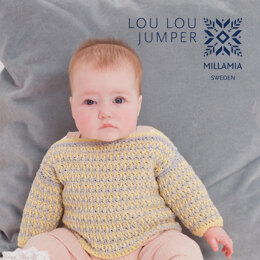 """""""Lou Lou Jumper"""" - Jumper Crochet Pattern For Babies in MillaMia Naturally Soft Cotton by MillaMia"""