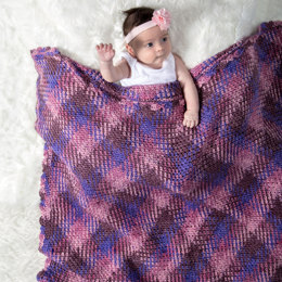 Bonny Baby Blanket in Premier Yarns Everyday Plaid - Downloadable PDF