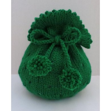 Gift Bag, Tote Bag, Seamless Knitted in the Round