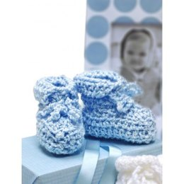 Baby Shower Booties in Bernat Baby Coordinates Solids