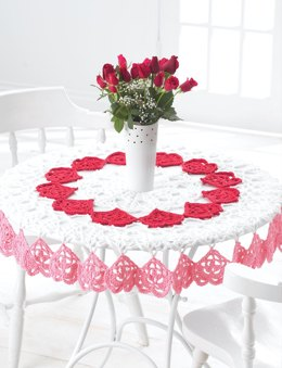Valentines Tablecloth in Bernat Handicrafter Cotton Solids