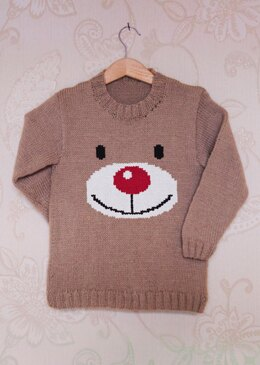Intarsia - Rudolph Face Chart - Childrens Sweater