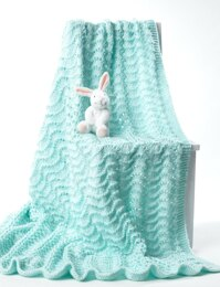 Knit Baby Blanket in Bernat Softee Baby Solids