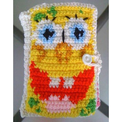 """Bound Book Style 7"""" Tablet cover - Spongebob and Patrick inspired"""