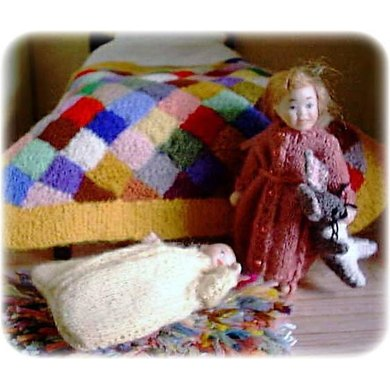 1:12th scale baby sleeping bag and dressing gown