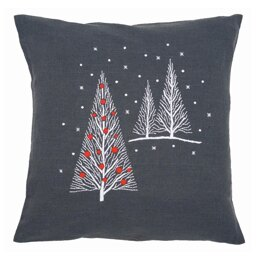 Vervaco Christmas Trees Embroidery Cushion Kit - PN-0164820