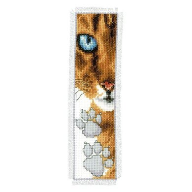 Vervaco Cat Close-Up Bookmark Cross Stitch Kit